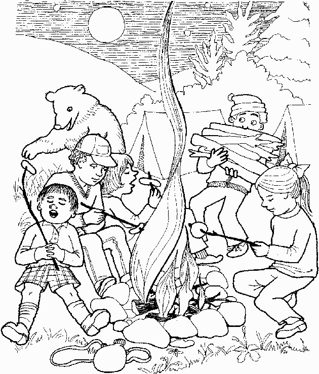 Camping Coloring Pages Birthday Printable
