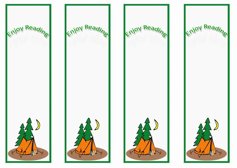 Camping Bookmarks – Birthday Printable