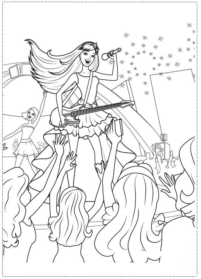 Rock Star Coloring Pages Birthday