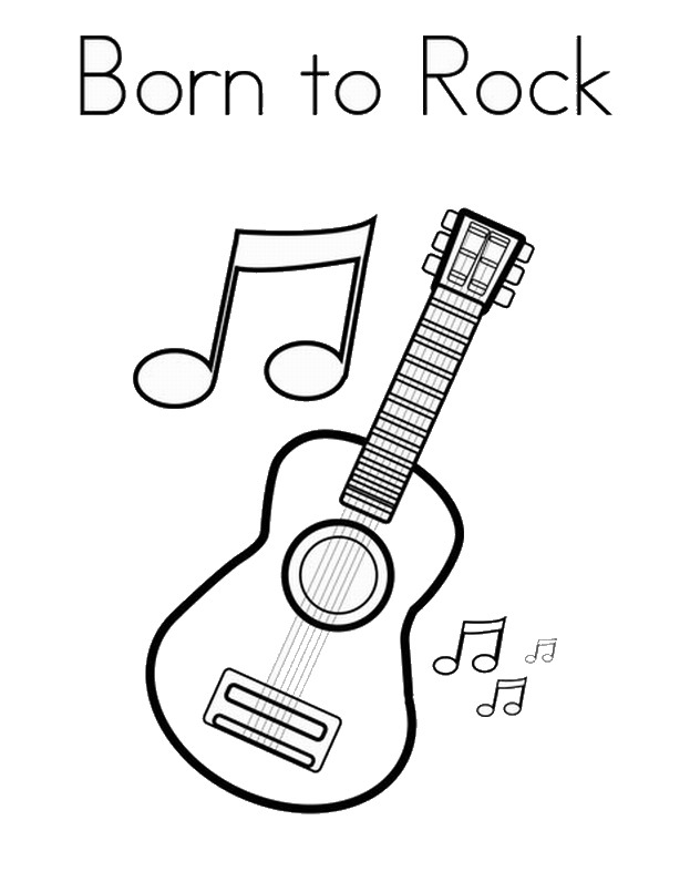 Rock Star Coloring Pages | Birthday Printable
