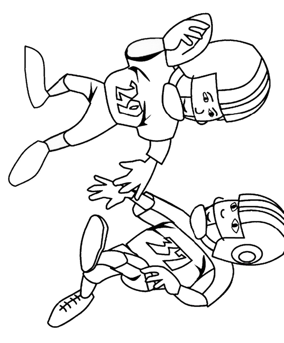 Football Coloring Pages Birthday
