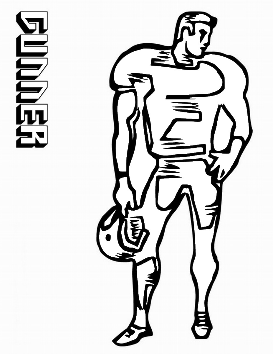 Football Coloring Pages Birthday Printable