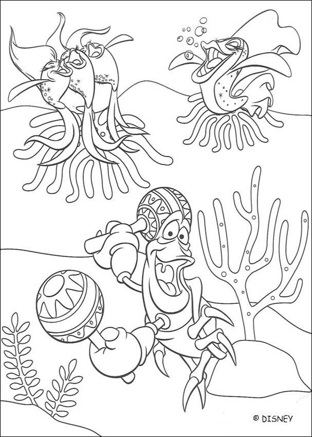 Little Mermaid Coloring Pages Birthday Printable