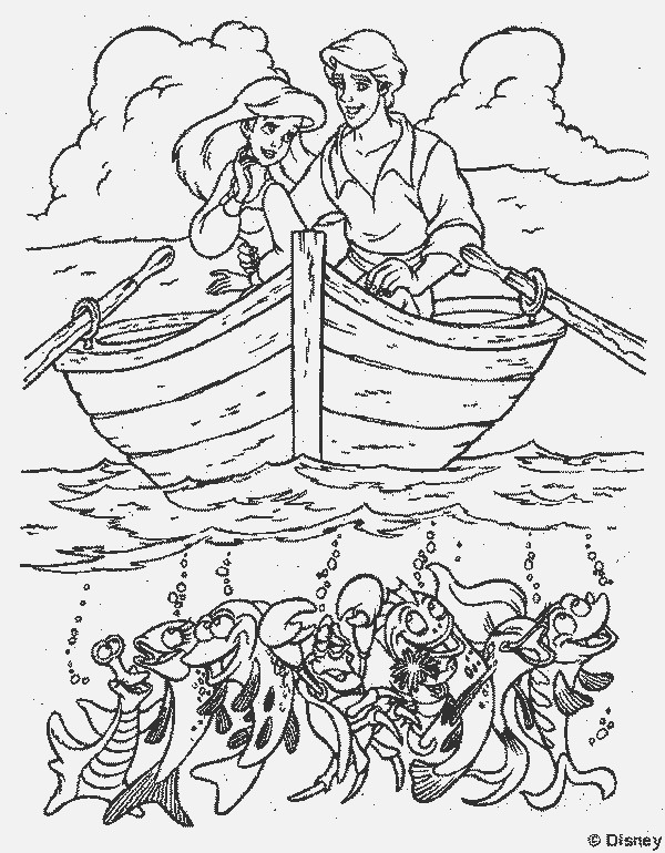 Ariel Birthday Coloring Pages : Little mermaid coloring pages birthday printable