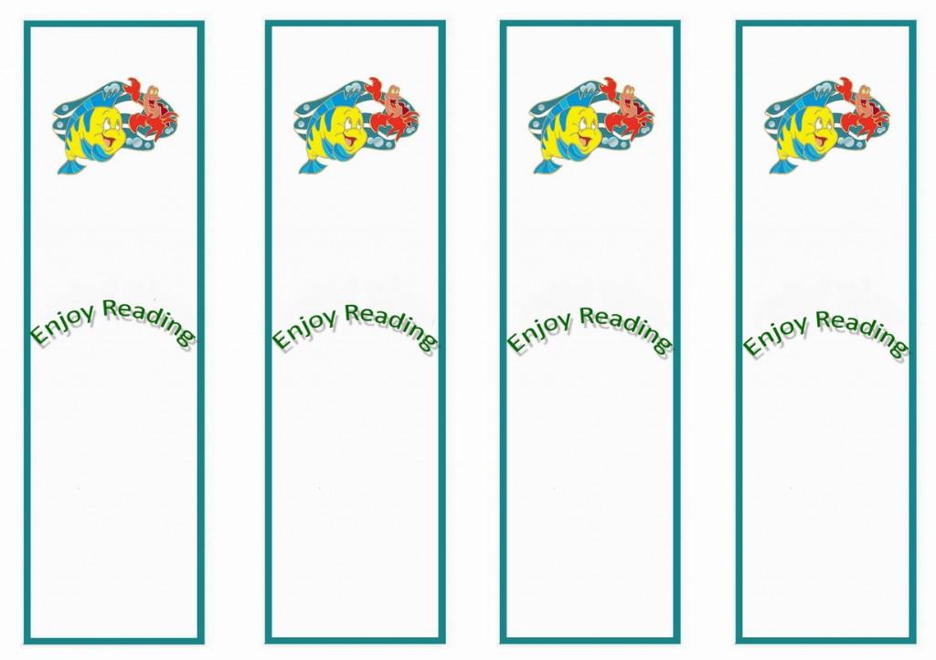 Little Mermaid Bookmarks Birthday Printable