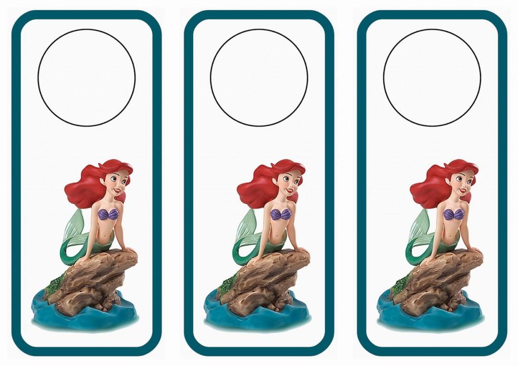 Little Mermaid Door Hangers Birthday