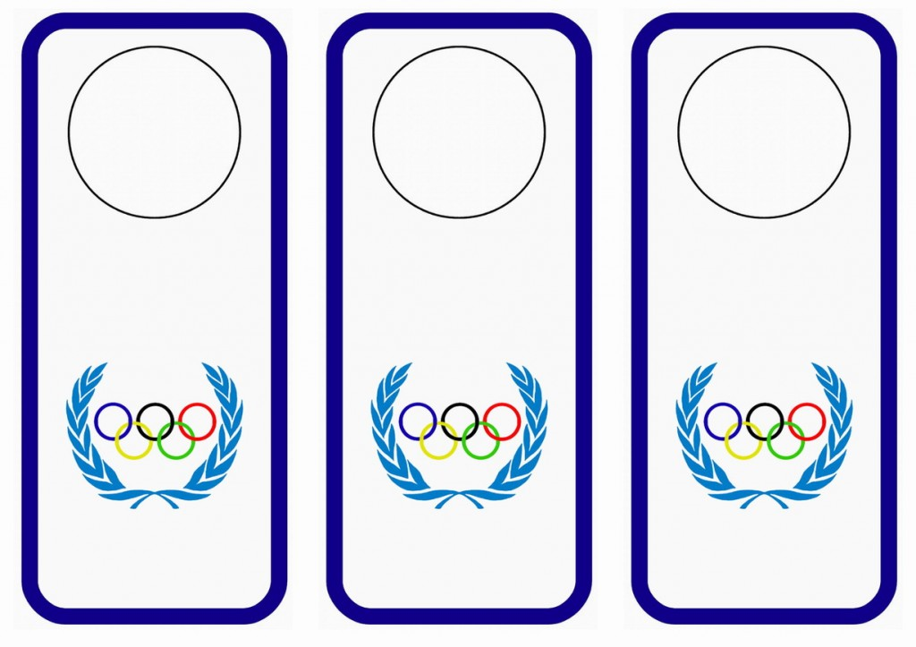olympics door hangers