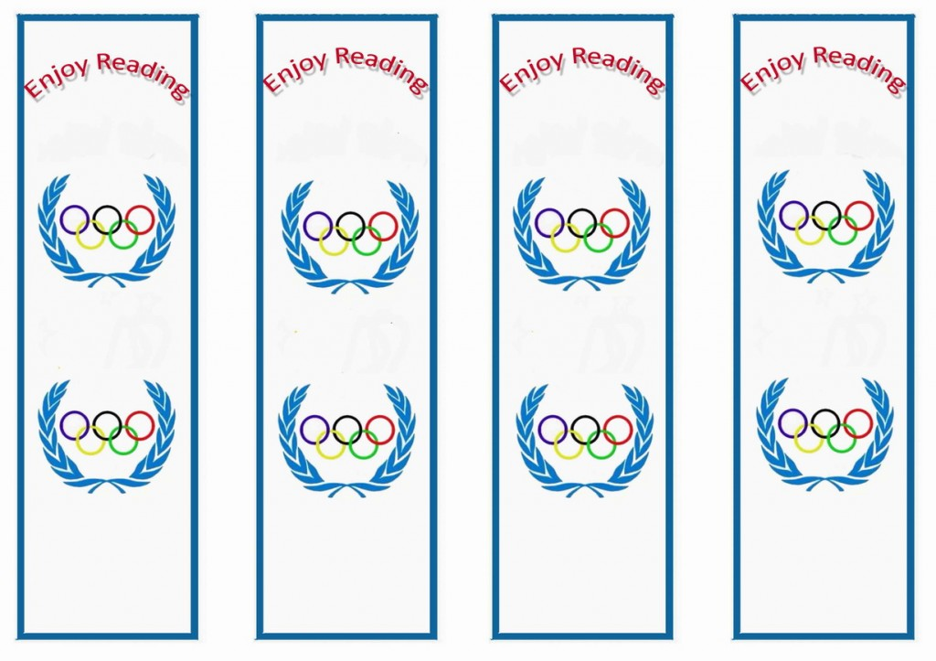 Olympics Bookmarks Birthday Printable