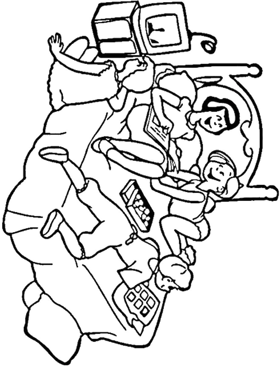 pajama theme coloring pages - photo#12