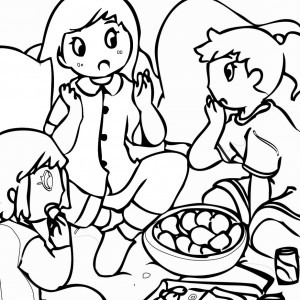 Sleepover Coloring Pages Birthday Printable