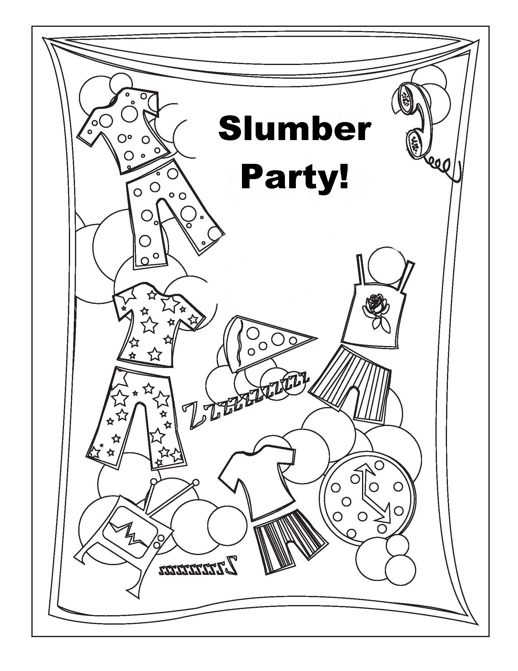 pajama theme coloring pages - photo#29