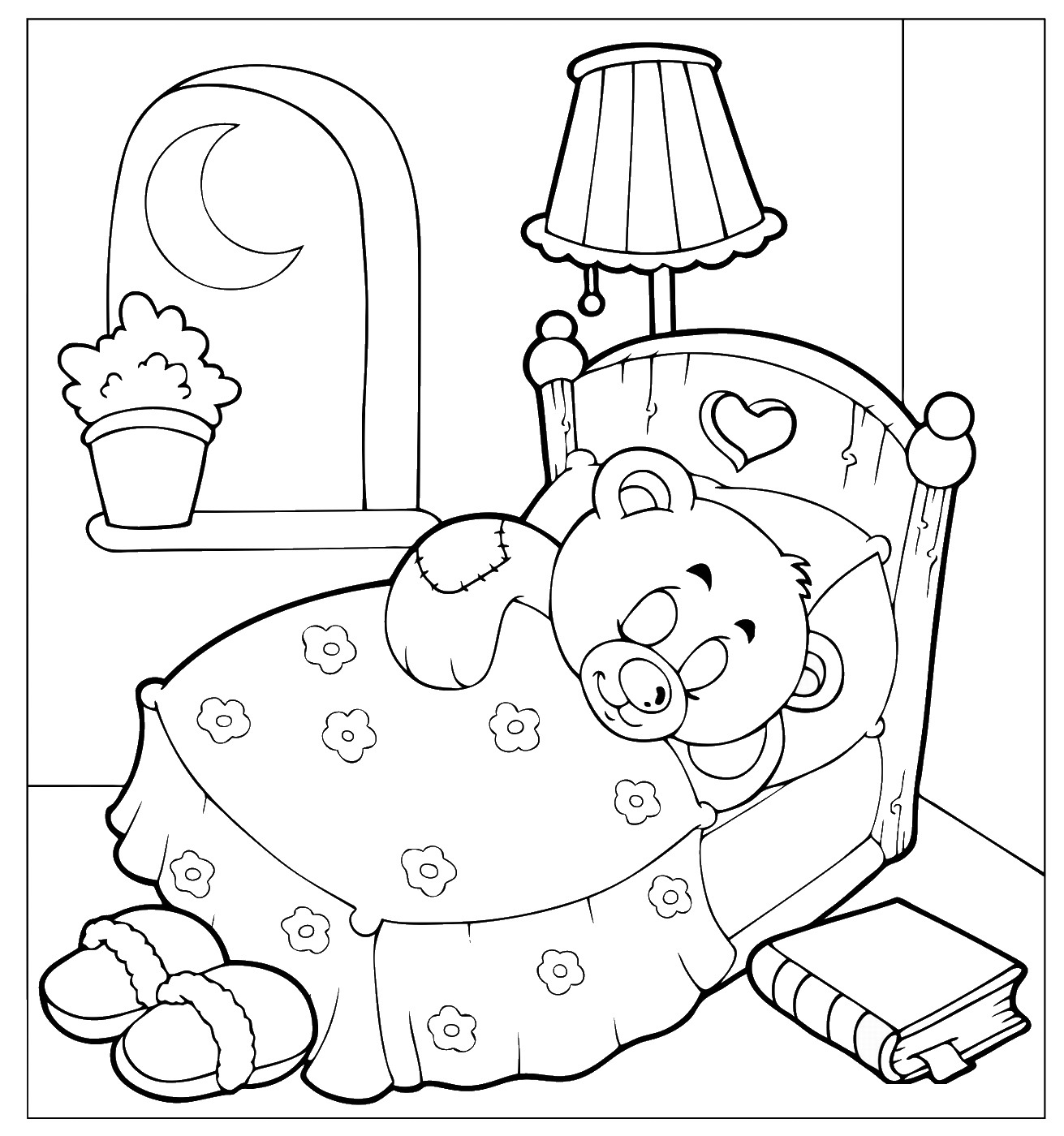 pajama theme coloring pages - photo#6