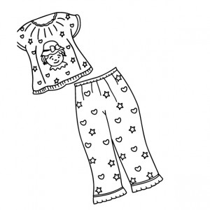 pajama theme coloring pages - photo#13