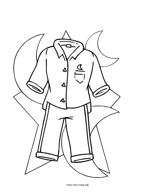 pajama theme coloring pages - photo#7