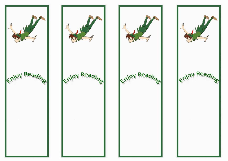 Peter Pan Bookmarks Birthday Printable
