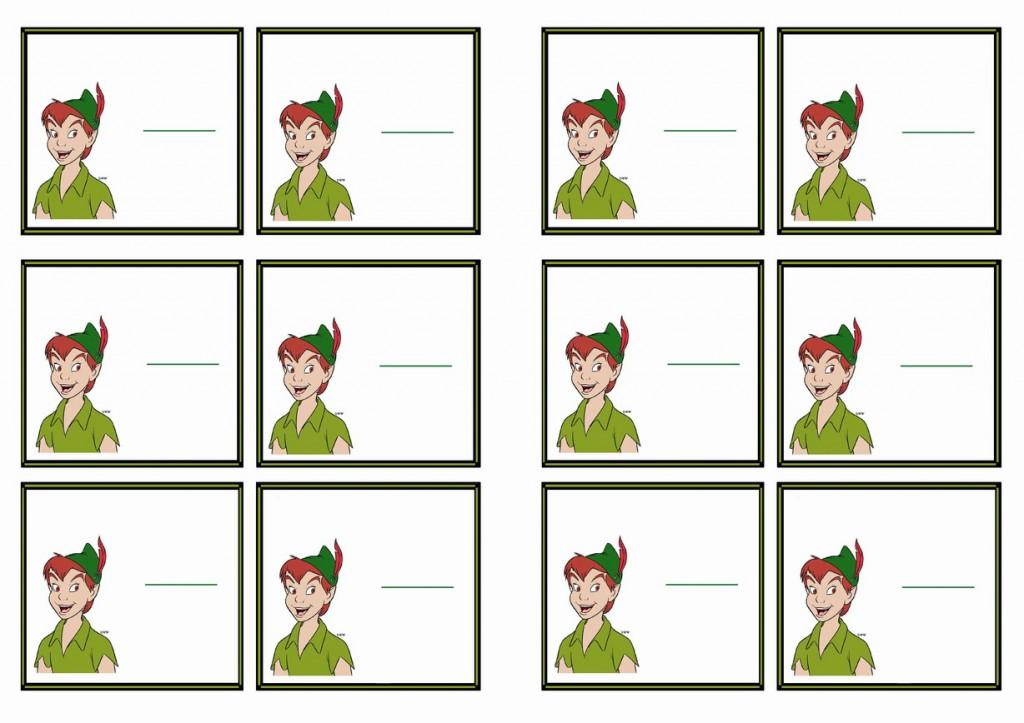 Peter Pan Name Tags Birthday Printable