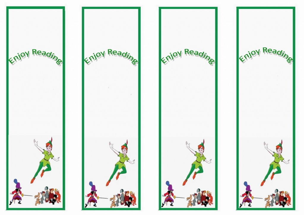 Peter Pan Bookmarks Birthday