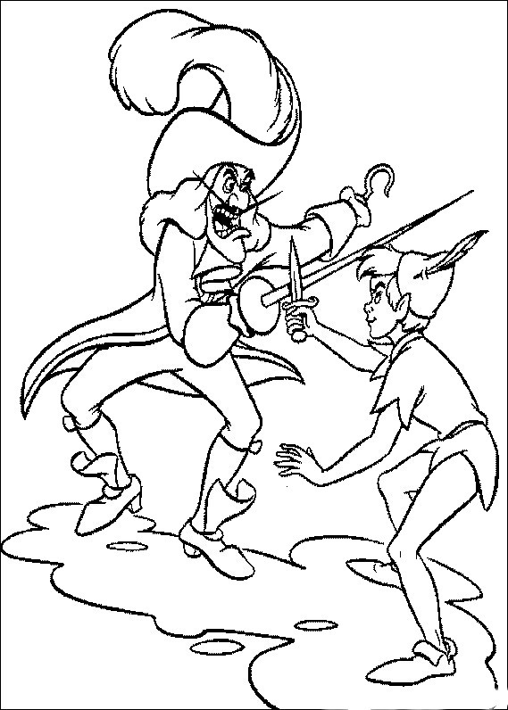 Peter Pan Coloring Pages Birthday Printable
