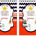 Rock Star Birthday Invitations
