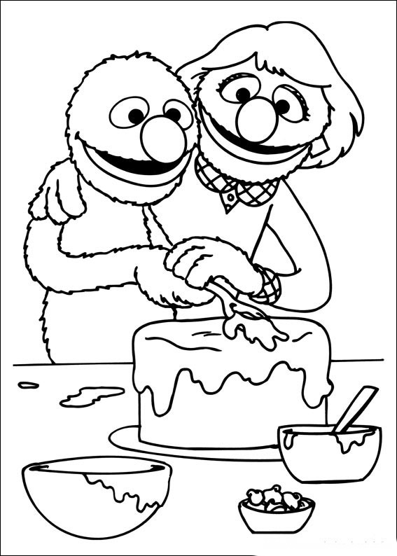 Sesame street coloring pages birthday printable for Sesame street color pages