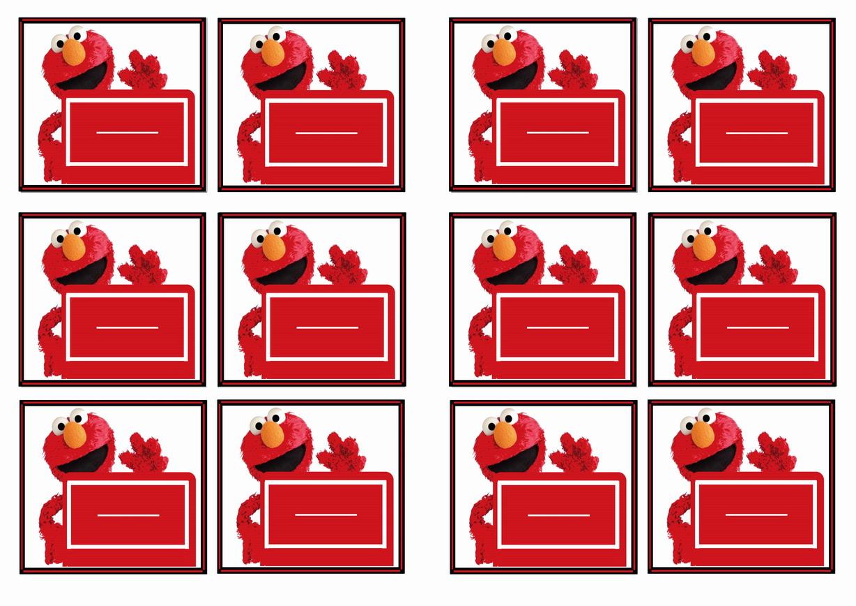 Sesame Street Name Tags Birthday Printable