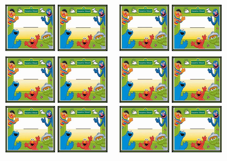 Sesame Street Name Tags – Birthday Printable
