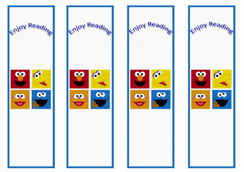 Sesame Street Bookmarks Birthday
