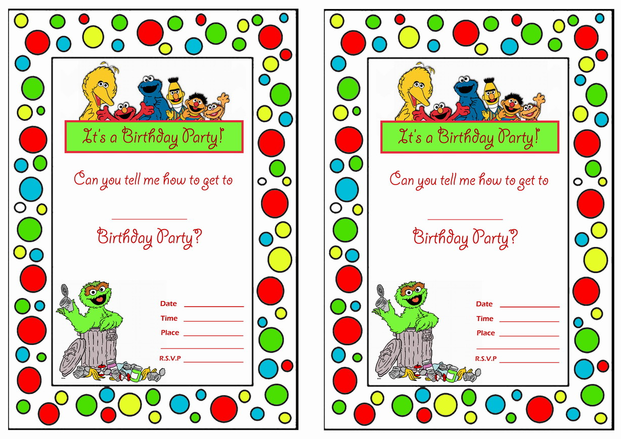Sesame street birthday invitations birthday printable sesame street birthday invitations filmwisefo