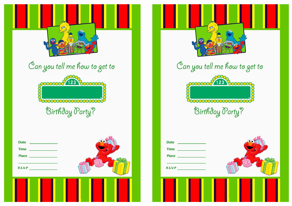 Sesame Street Birthday Invitations Birthday Printable