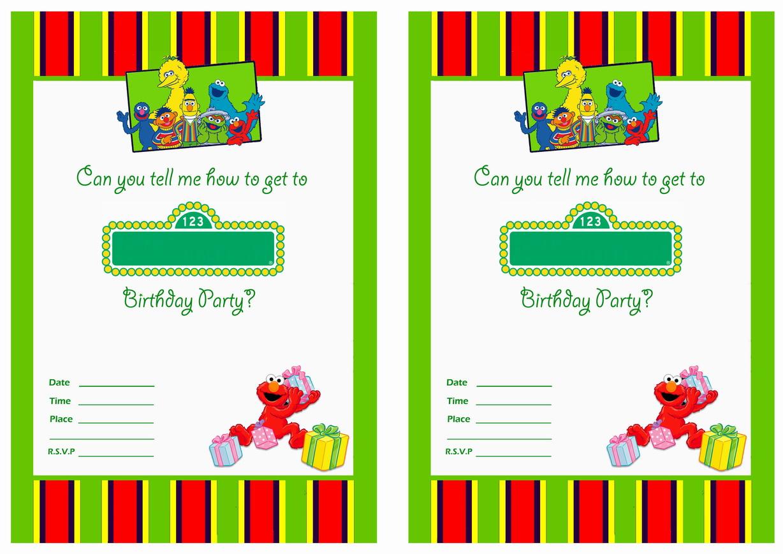Sesame Street Birthday Printable Invitations Click Image Below To Enlarge And Print