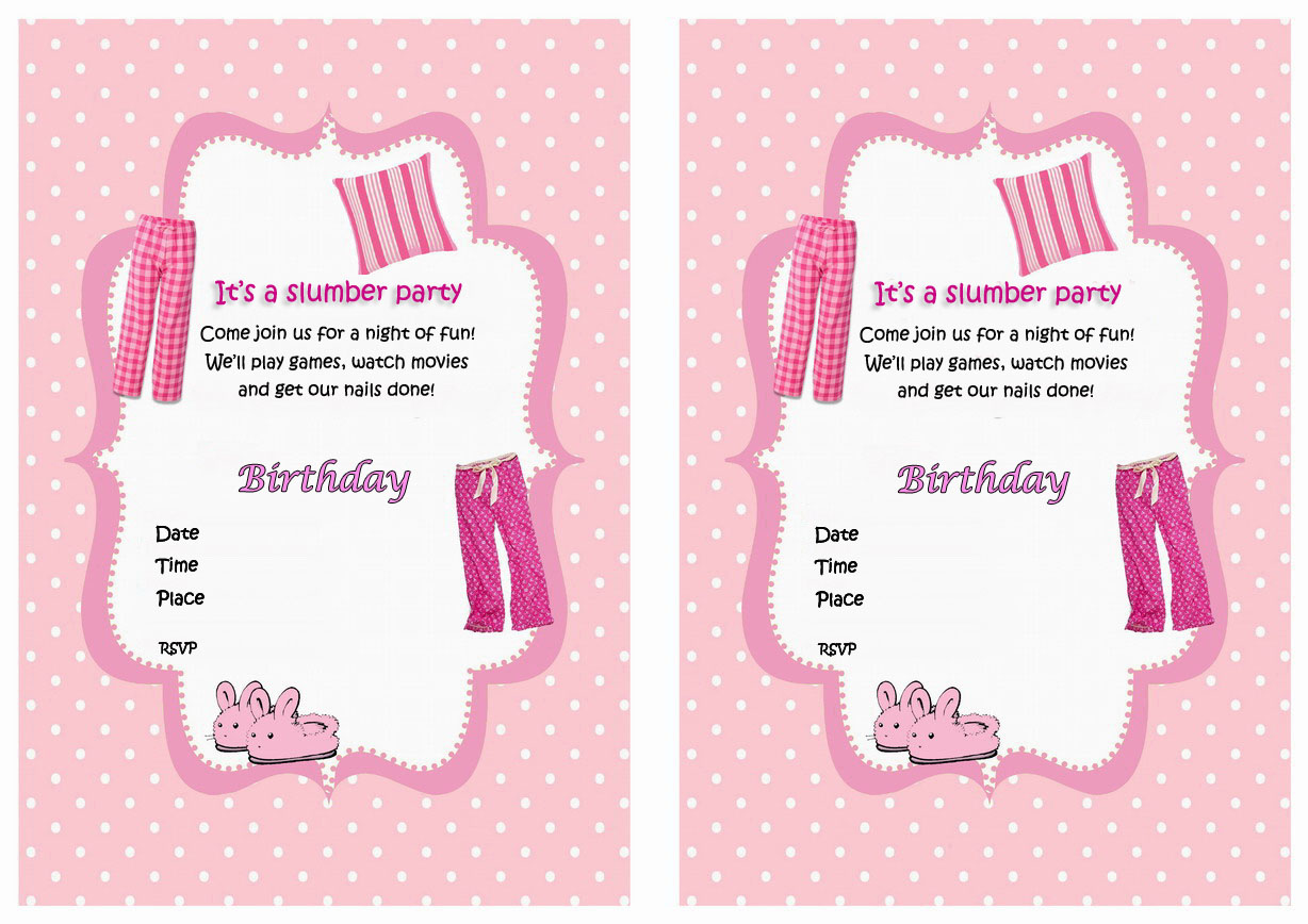 Sleepover birthday printable sleepover birthday invitations stopboris