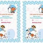 Bowling Birthday Invitations