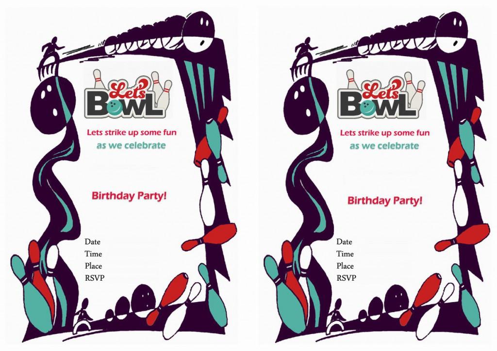 Bowling Birthday Invitations Birthday Printable