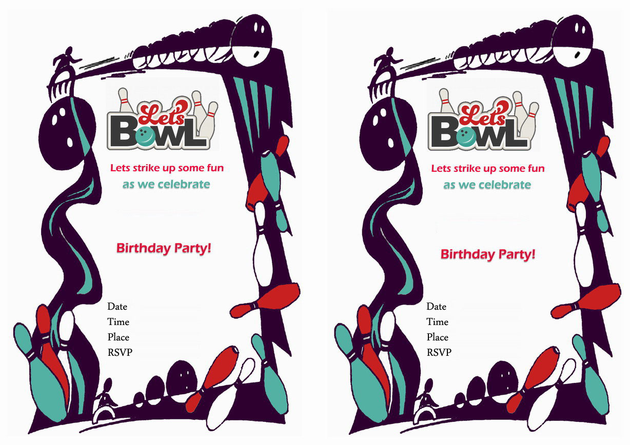 Bowling Birthday Invitations – gangcraft.net