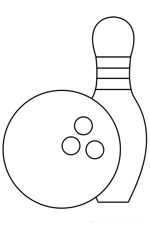 Bowling pin coloring page
