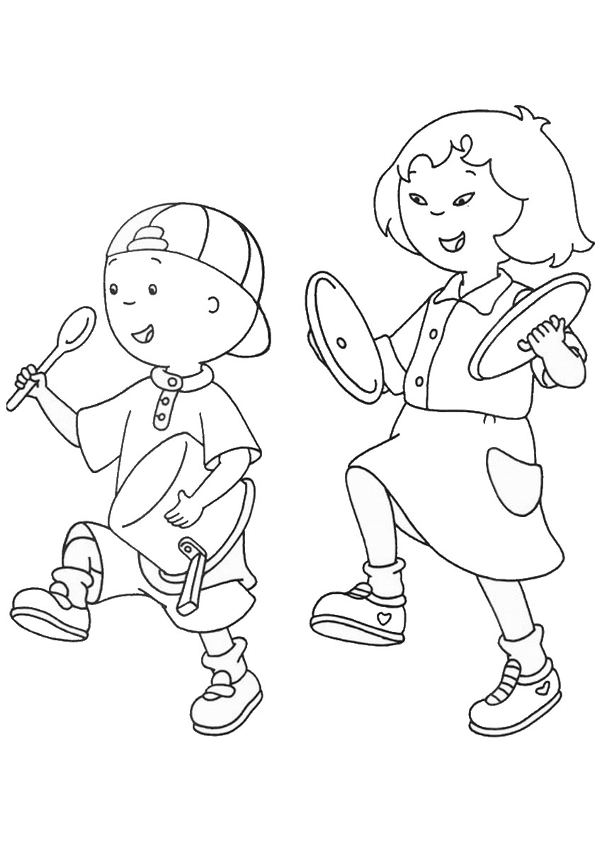 Caillou Coloring Pages Birthday
