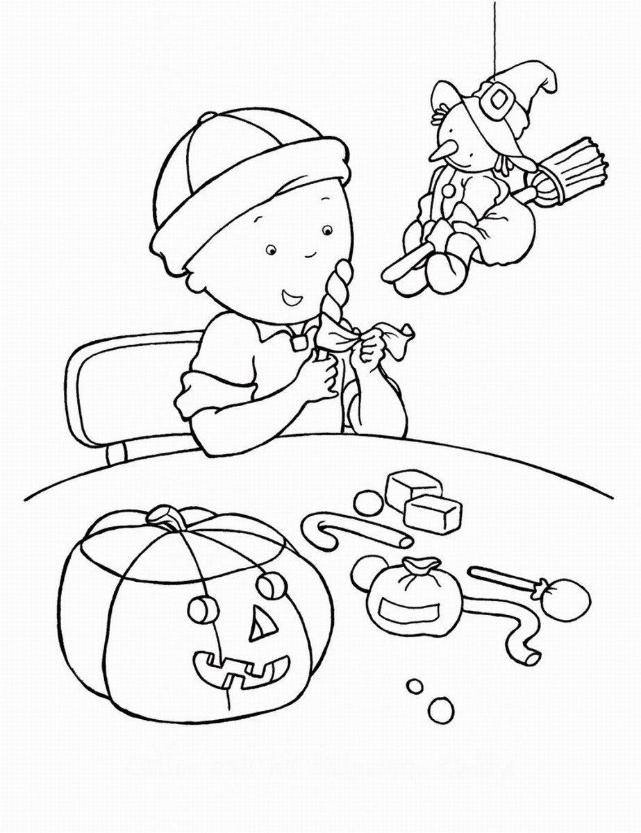Caillou Coloring Pages | Birthday Printable