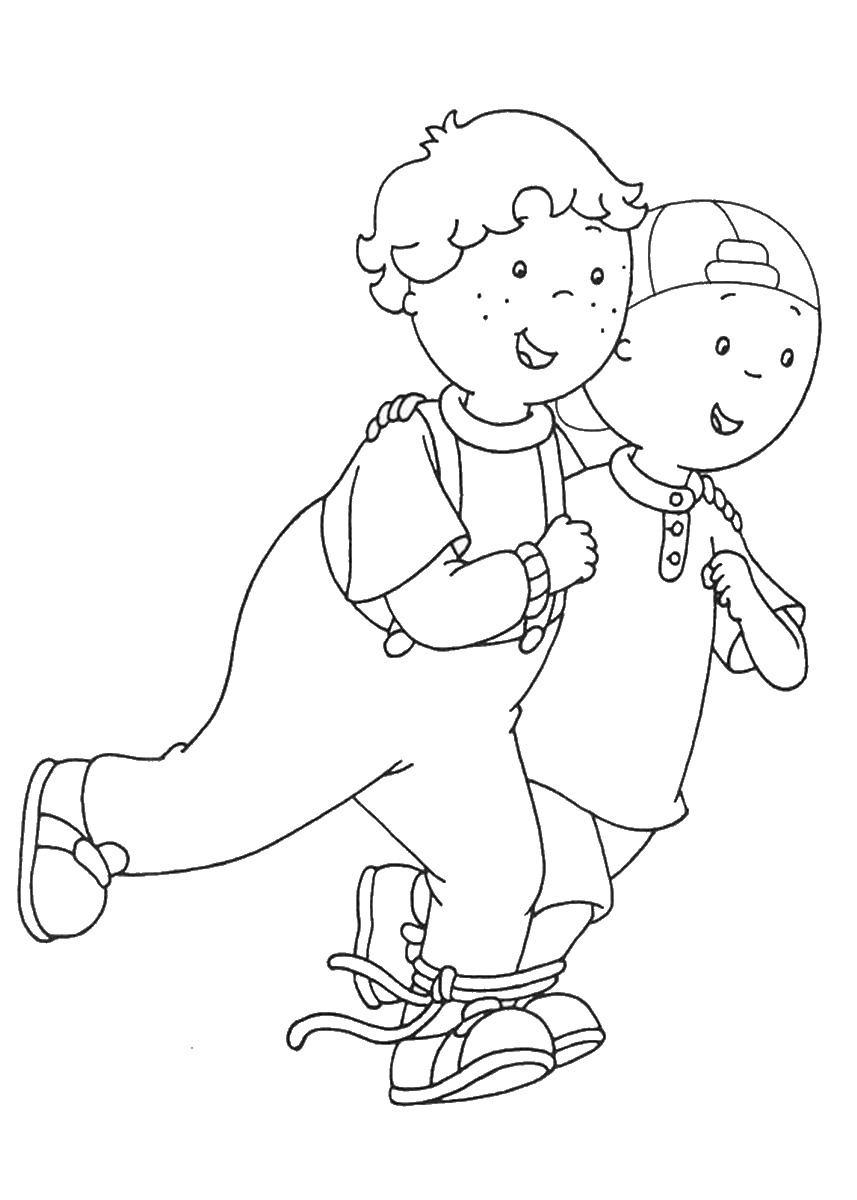 Caillou Coloring Pages – Birthday Printable