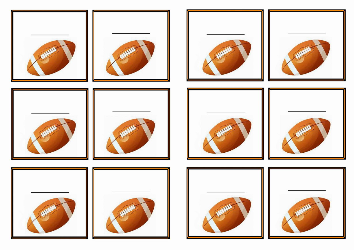 Football Name Tags u2013 Birthday Printable