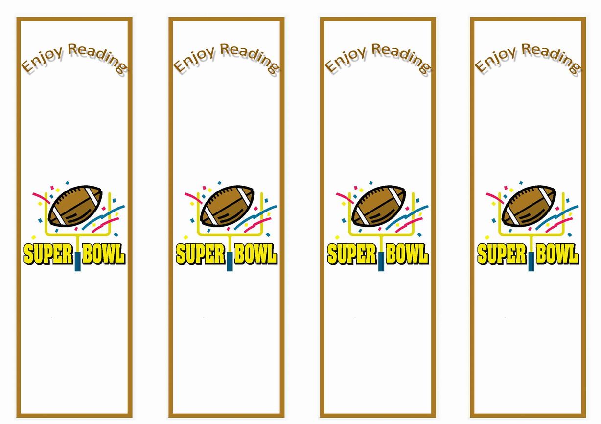 Football Bookmarks – Birthday Printable