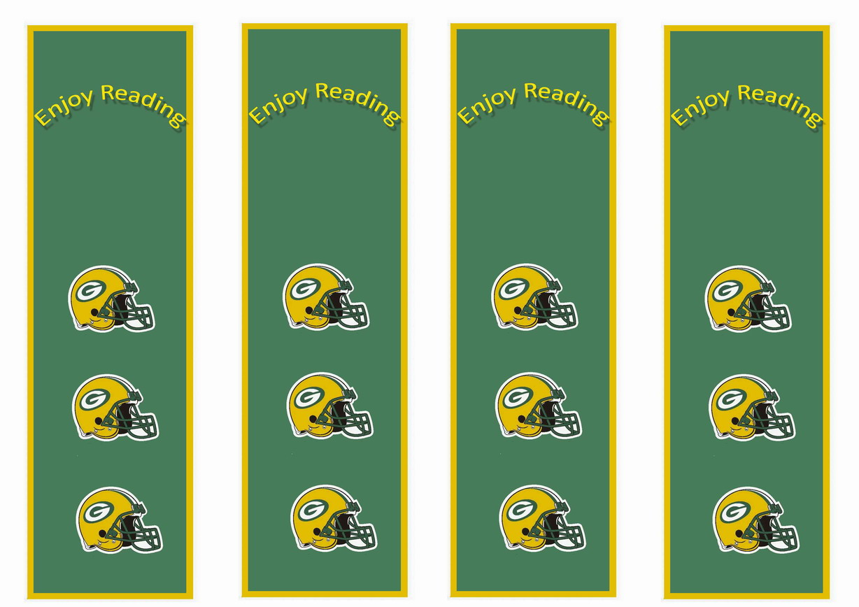 Football Bookmarks Birthday Printable