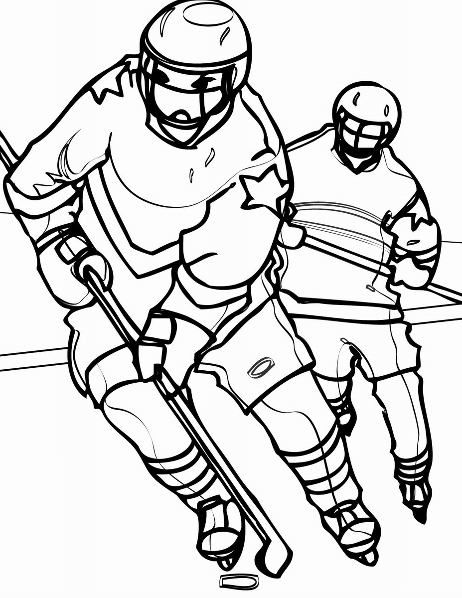 Hockey Coloring Pages Birthday