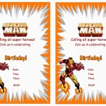 Iron Man Birthday Invitations