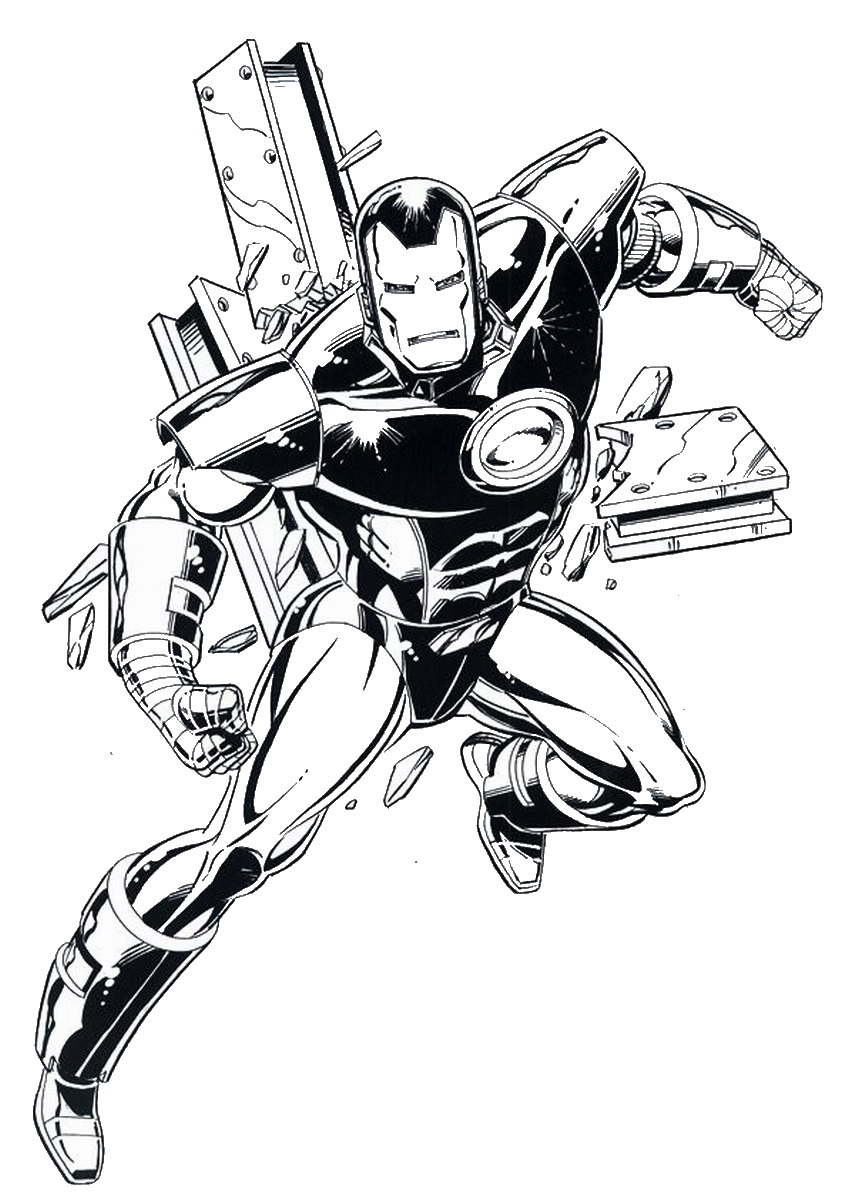 Iron Man Coloring Pages Birthday