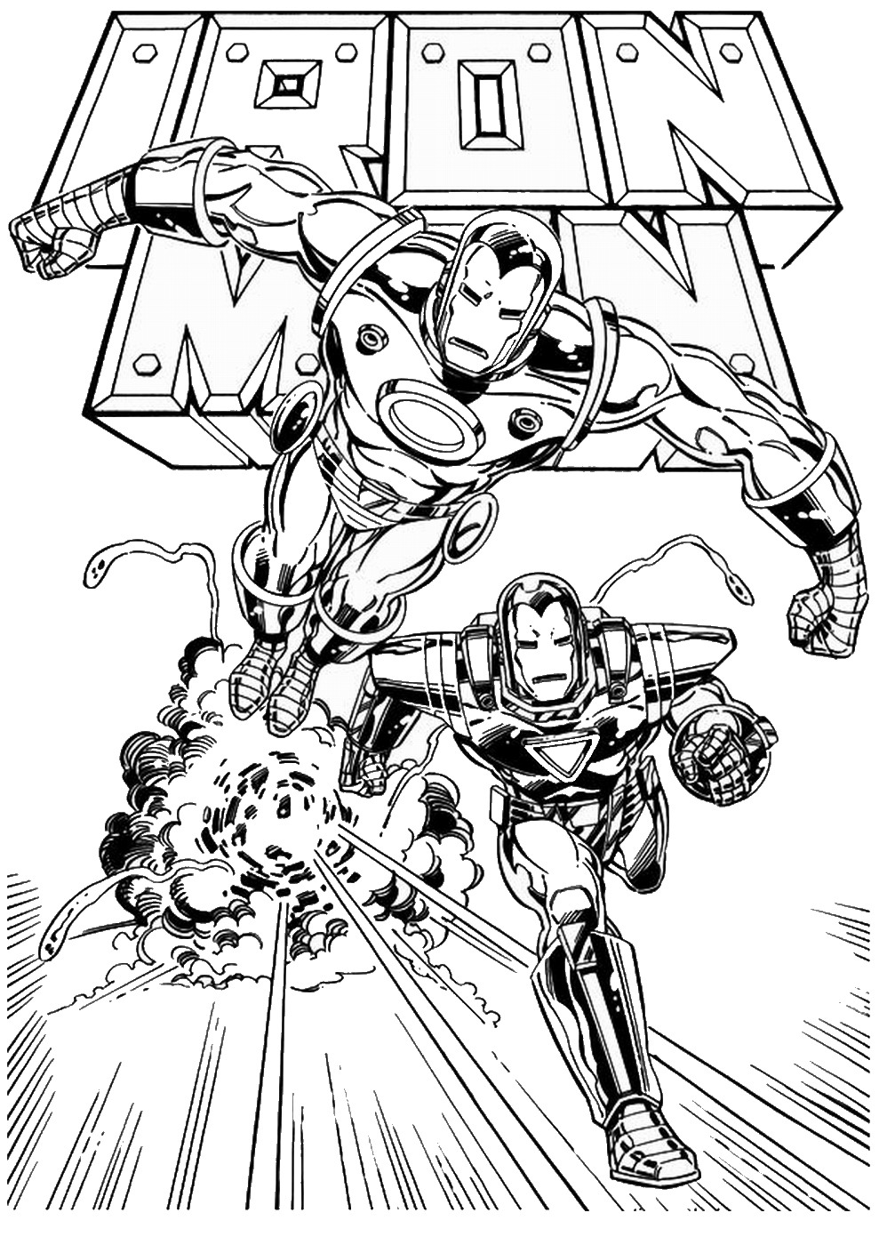Iron Man Coloring Pages - Birthday Printable