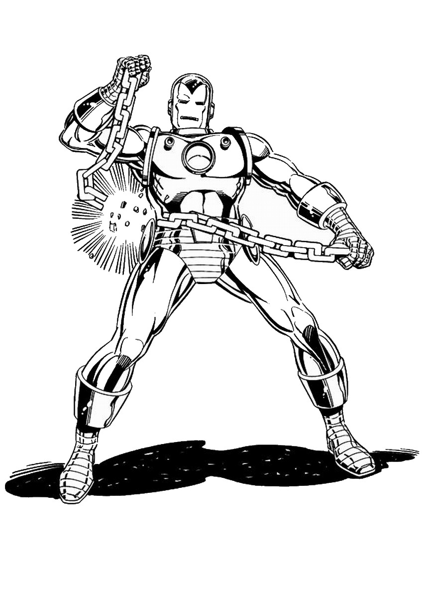 Iron Man Coloring Pages Birthday Printable