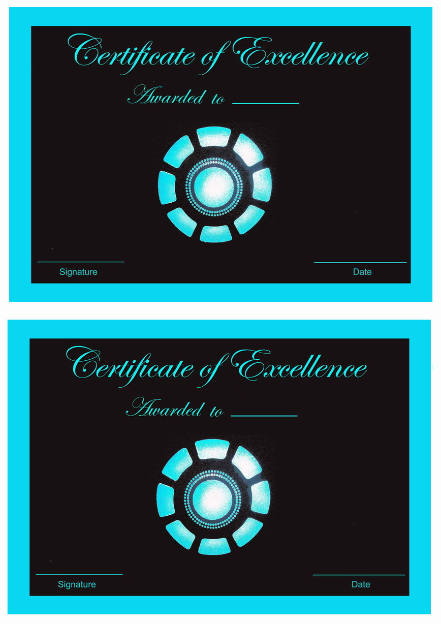 Iron Man Awards Birthday Printable