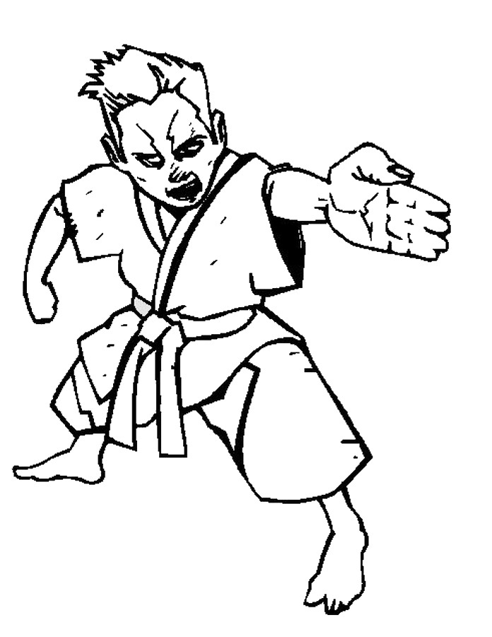 Karate Coloring Pages Birthday Printable