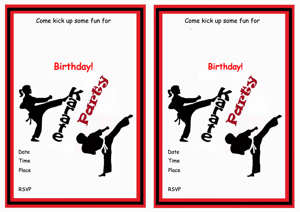 ... invitations by theme karate sports sports invitations birthday free