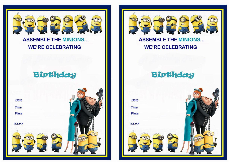 Despicable Me Birthday Invitations – Birthday Printable